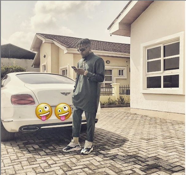 See Rapper, Olamide shows off his Bentley (Photo)