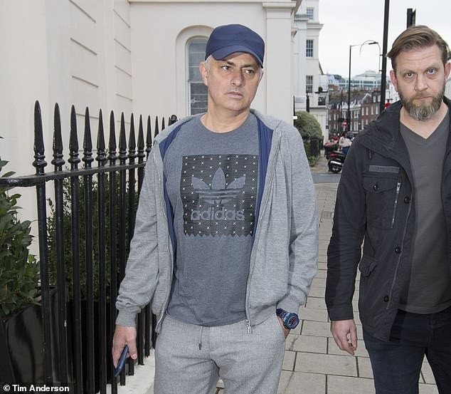 Jose Mourinho is spotted out and about for the first time after being sacked by Manchester United (Photos)