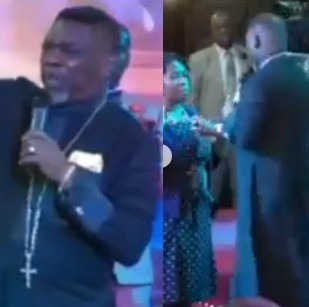 Video: Nigerian Pastor asks his members to pay ?700 so he can spray them a perfume that will cancel spiritual odour