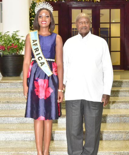 Ugandan president asks newly-crowned Miss World Africa to stop wearing weaves