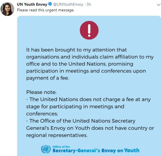 United Nations envoy?releases