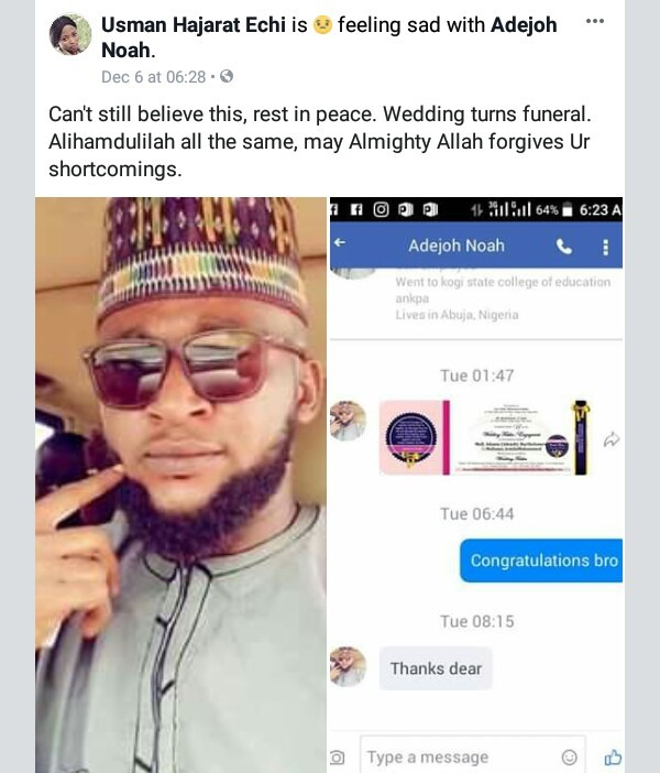 Photos: Nigerian man dies three weeks to his wedding