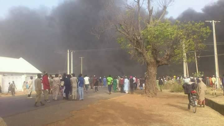 Pandemonium in Zamfara state as people protest repeated killings of residents by bandits (photos)