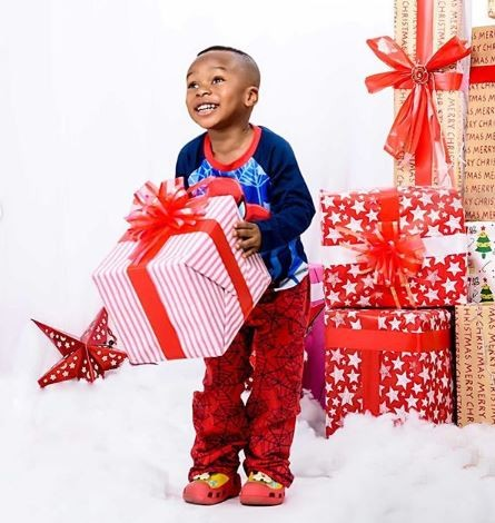 Tonto Dikeh shares lovely Christmas photos with her son, King