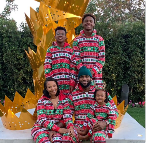 NBA star Lebron James shares beautiful family photo