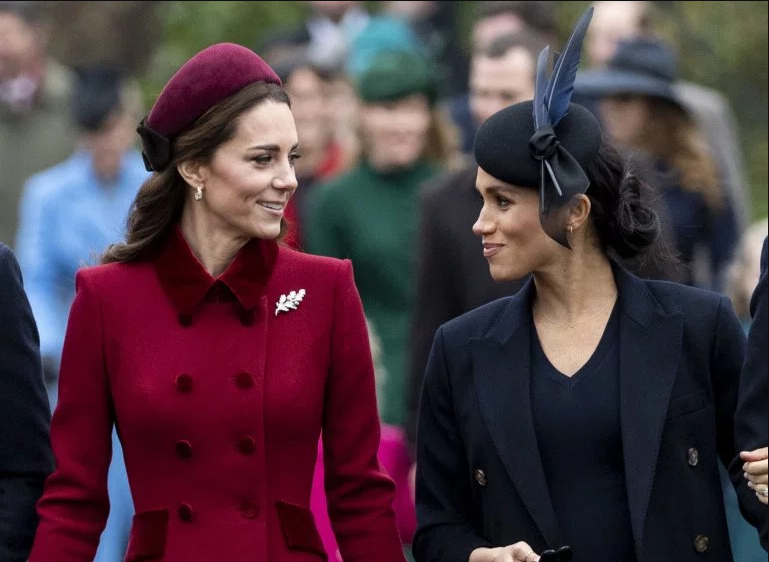Kate Middleton and Meghan Markle pictured showing affection to each other amidst rumors of a rift