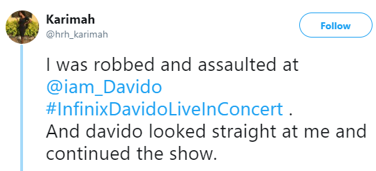 Lady who claimed she was sexually assaulted and robbed at Davido