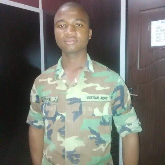Photos: Young Aliyu Aminu identified as one of the 13 soldiers killed in Boko Haram ambush along Damaturu-maiduguri road