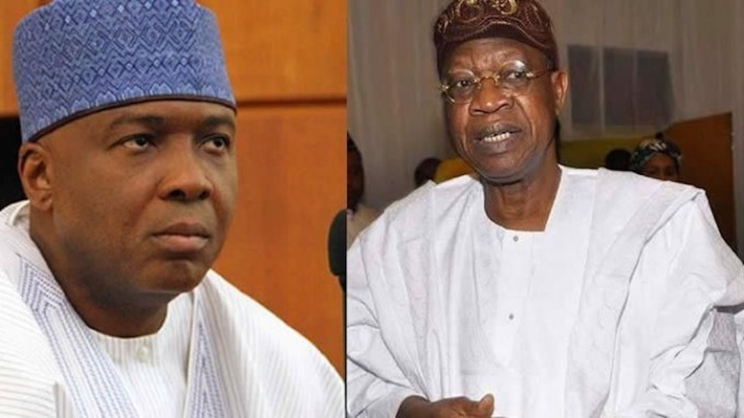 ''Stop dancing on the graves of Offa robbery victims'' Lai Mohammed warns Saraki