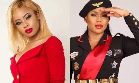 Toyin Lawani drags Nina on twitter, calls her a bitch and accuses her of speaking ill of her
