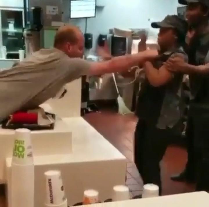 Shocking moment Florida man attacks a McDonald