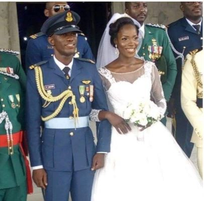 The Pilot in Command,?Perowei Jacob who died in the Air-force plane crash while fighting Boko Haram got married 3-weeks ago?(Photo)