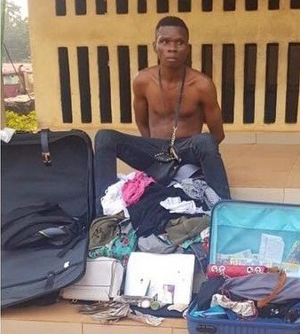 Anambra police nab man who robbed his cousin who was on holiday in Nigeria (photos)