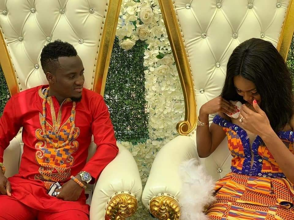 Photos: Two Ghanaian footballers, David Accam and Florence Dadson tie the knot