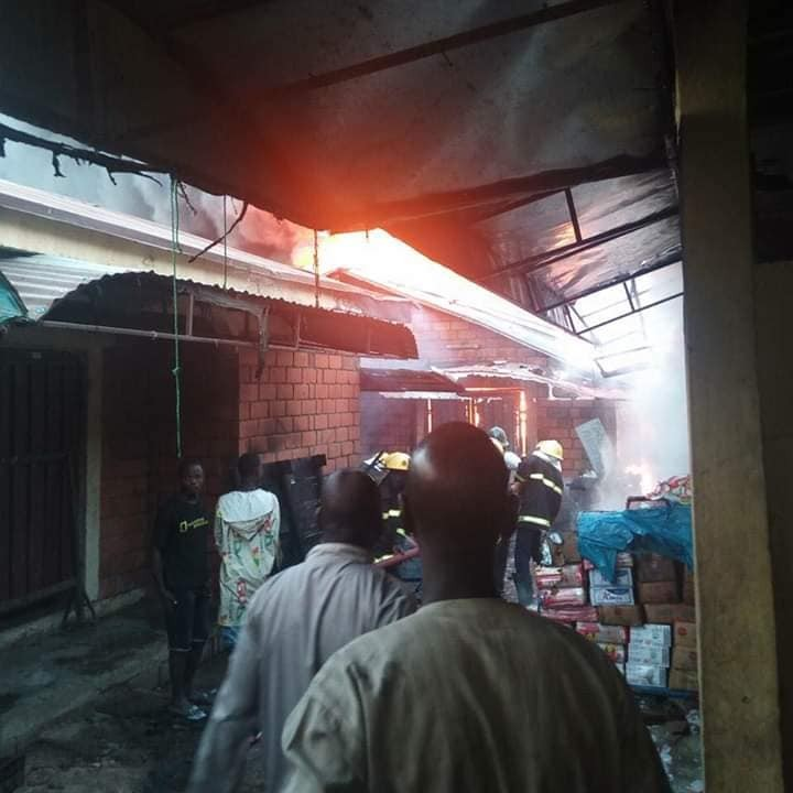 Photos: Millions of goods and properties lost as Kure Ultra Modern market in Niger state goes up in flames