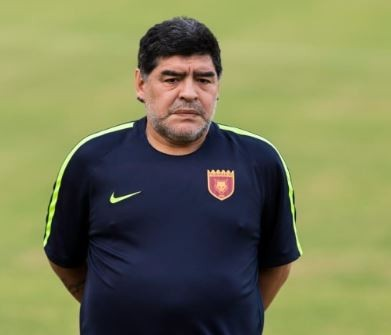 Football legend,?Diego Maradona