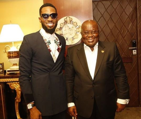 Photos: Dbanj meets with the President of Ghana, Nana Akufo Addo