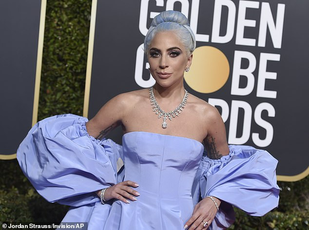 See the $5m worth of custom-made Tiffany diamonds Lady Gaga wore to the Golden Globes award (Photos)