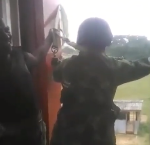 Video: Watch the moment a Nigerian cadet is mocked by colleagues as he chickens out during a drill