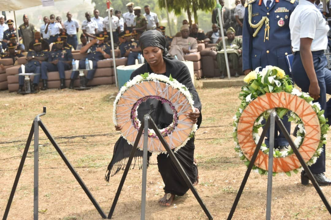 Photos from the funeral of Nigeria Air Force personnel killed in Borno helicopter crash