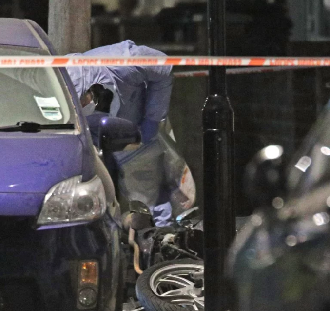 14 year old boy stabbed to death by a gang who rammed into his motorcycle