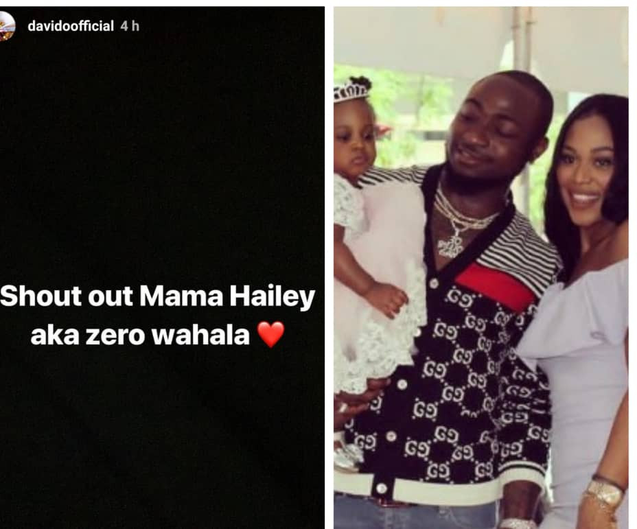 Davido hails his second babymama Amanda, says she has zero wahala