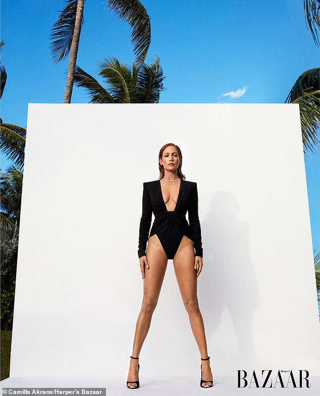 Jennifer Lopez flaunts her long legs and curves as she covers Harper