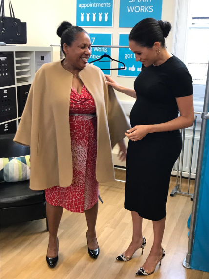 Meghan the stylist! Watch the Duchess of Sussex as she helps pick out clothes for the unemployed and vulnerable women at Smart Works (video)