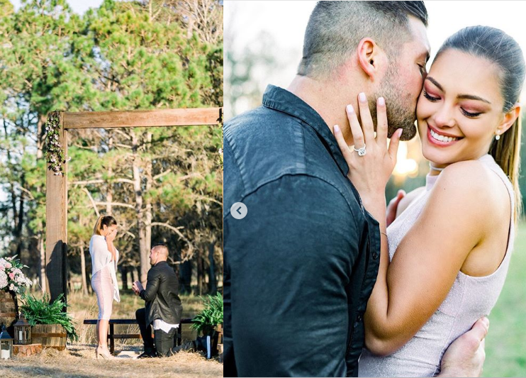 Tim Tebow announces engagement to Miss Universe 2017 Demi-Leigh Nel-Peters (Photos)