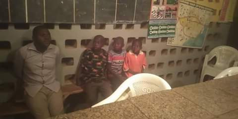 Photos: Suspected kidnapper nabbed with three children in Taraba state