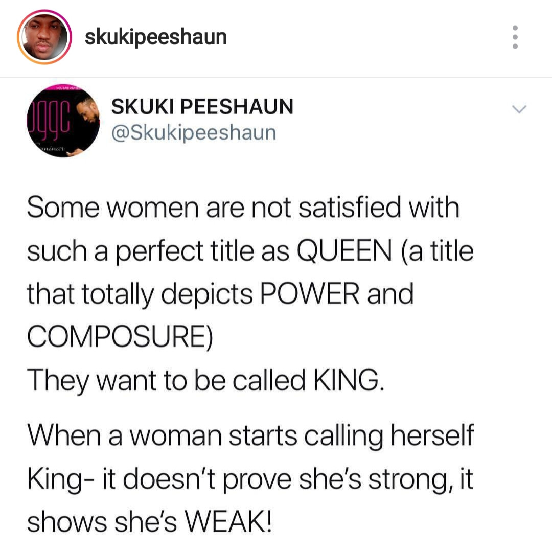 Stop policing women and telling them what to call themselves- Toni Tones tells Skuki who says women that call themselves King are weak