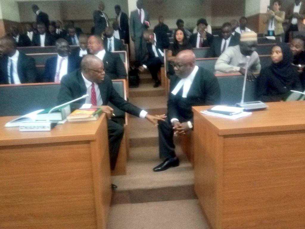 Photos from the Code of Conduct Tribunal where CJN Walter Onnoghen is to be arraigned