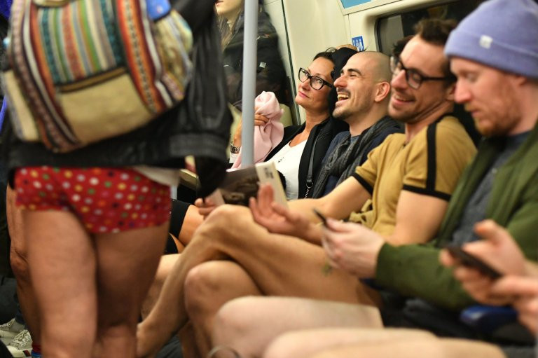 Commuters get half naked for 10th annual No Trousers Tube Ride (photos)
