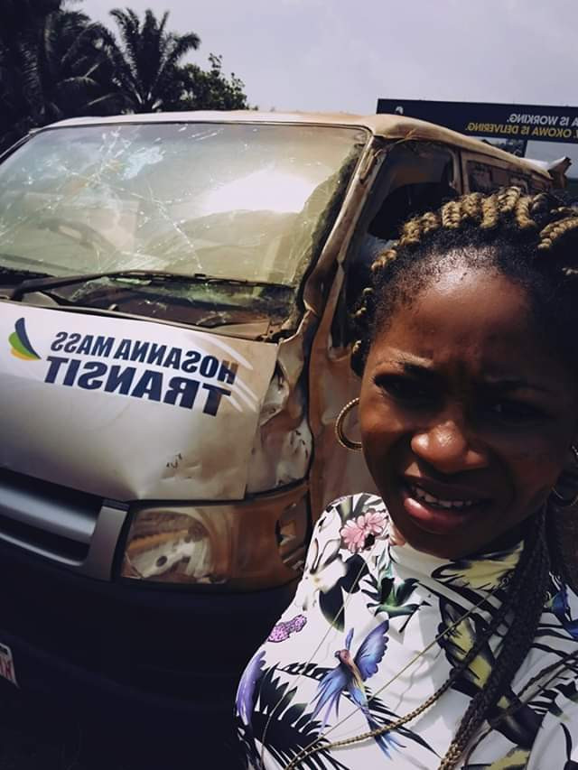 Lady Overwhelmed With Gratitude As She & 16 Others Escape Death In Serious Accident