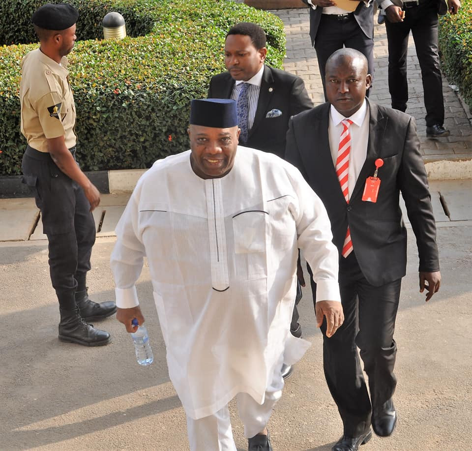 Photos: EFCC arraigns Doyin Okupe for N702 million