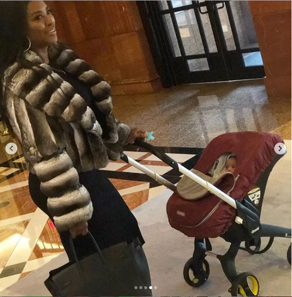 Kenya Moore and her adorable daughter Brooklyn go on a brunch date?(Photos)