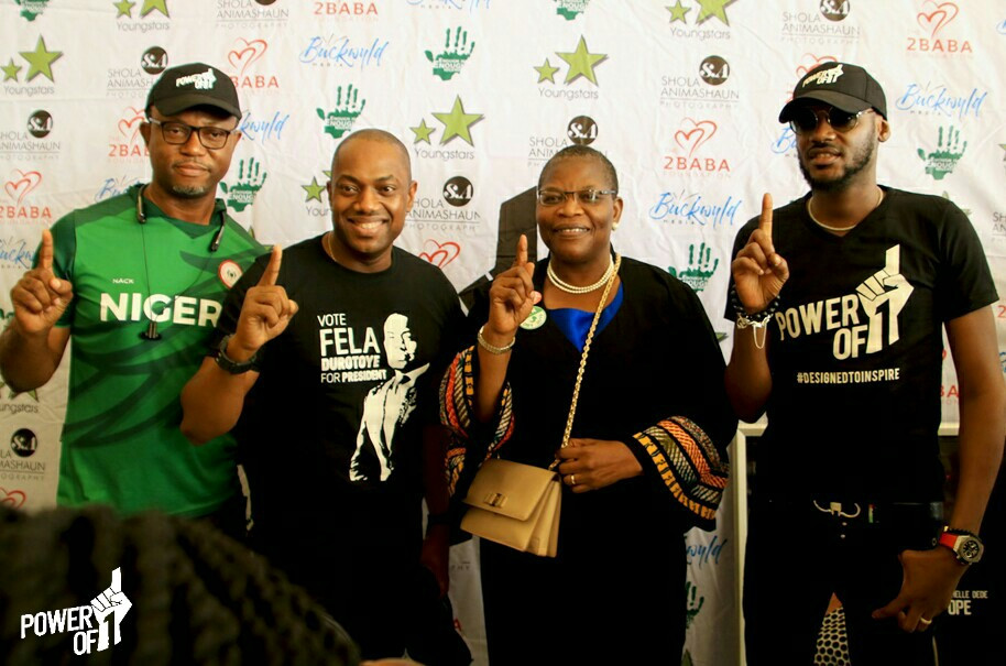 Dr Oby Ezekwesili, Fela Durotoye, 2Baba hang out to watch 2Baba