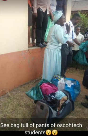 Man disguised as a woman caught with a bag filled with stolen panties at Oscohtech (photos)