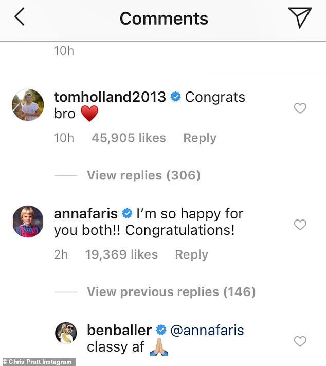 Anna Faris congratulates ex-husband Chris Pratt after he proposes to Katherine Schwarzenegger