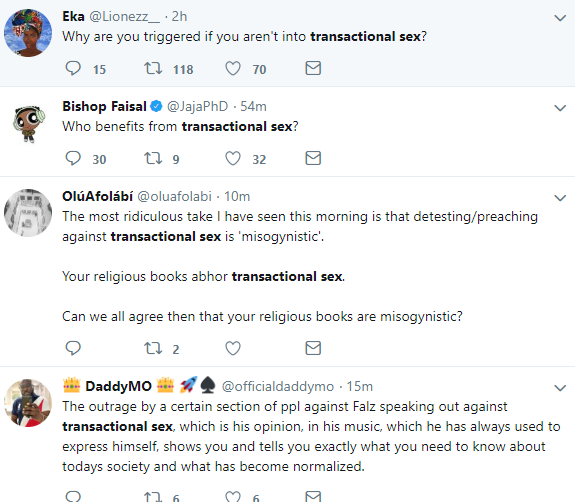 """""""I hate transactional sex"""" Falz explains after being accused of slut shaming in his new music video; Twiter users react"""