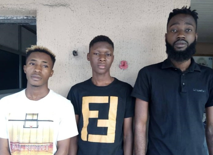 Photo: Alhaji Ugly Rex, two others arrested for internet fraud, money laundering