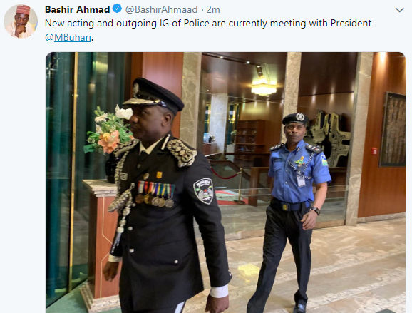 Photos: Presidency confirms IGP Ibrahim Idris is leaving office today, Adamu Mohammed to take over in acting capacity