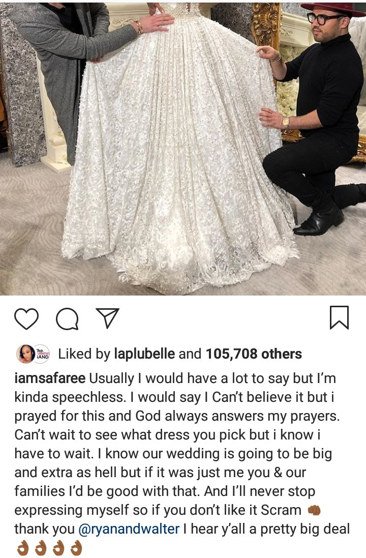 Erica Mena pictured trying out wedding gowns ahead of her wedding to Safaree