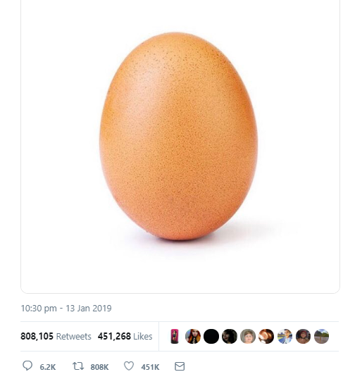 Copycat egg tries to steal Twitter record for most retweeted photo ever