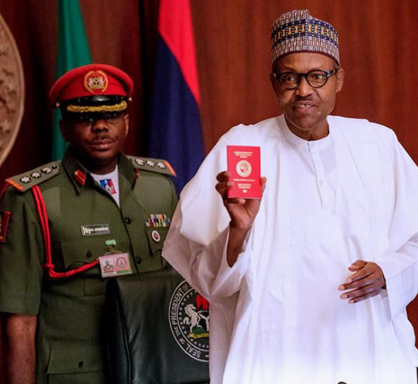 President?Buhari unveils new Nigerian International?passport with 10-year validity