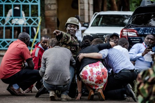 Photos from the scene of Kenyan hotel terrorist attack as survivors continue to beg for rescue
