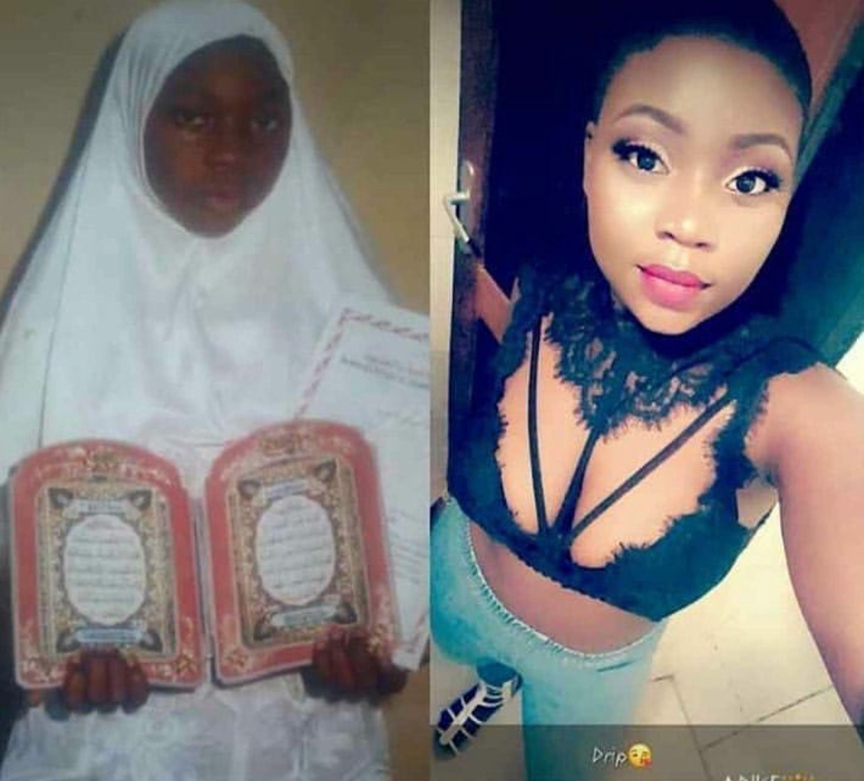 Former hijab-wearing muslim ladies shock online users with their #10yearchallenge photos