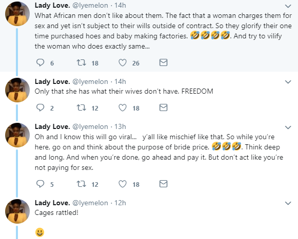 Prostitutes have more dignity than African wives - Twitter user
