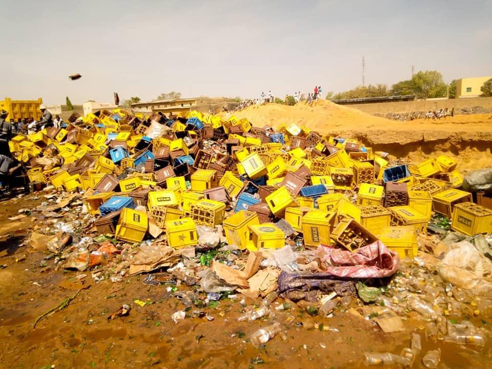 Photos: Kano Hisbah Board destroys 60,000 bottles of beer