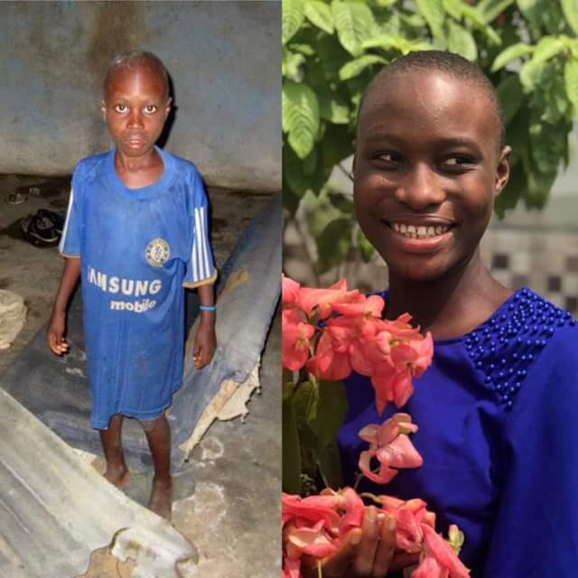 2013 vs 2019 photos of young Nigerian girl who was sexually abused, beaten and banished after being accused of being a witch